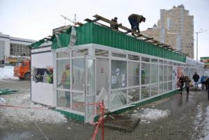Демонтаж торговых павильонов